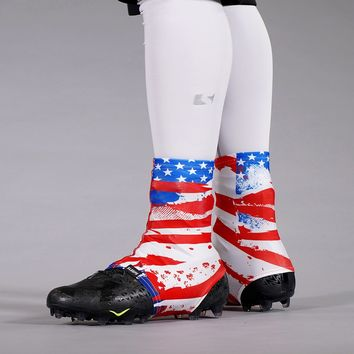 USA Flag Collage Spats / Cleat Covers