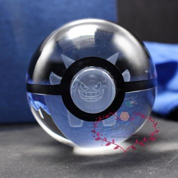 Hot Selling  Go Monster Gengar 3D laser Pokeball Crystal ball for Birthday GiftsKawaii Pokemon go  AT_89_9