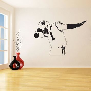 Carolina Panthers Newton Wall Stickers for Living Room Home Decor Vinyl Decals Sweet Kids Room Bedroom Murals K273