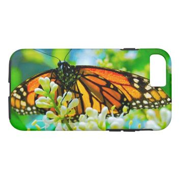Orange Monarch butterfly photo cell phone case