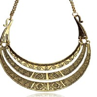 Bohemian Style Metal Multi Layer Necklace for Women