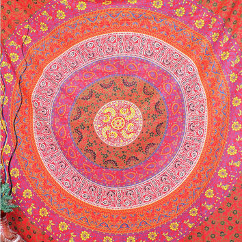Mandala Tapestry, Hippie Tapesrtries, Wall Hanging, Ethnic Decor Tapestry, boho tapestry, bohemian tapestry, indian mandala tapestry