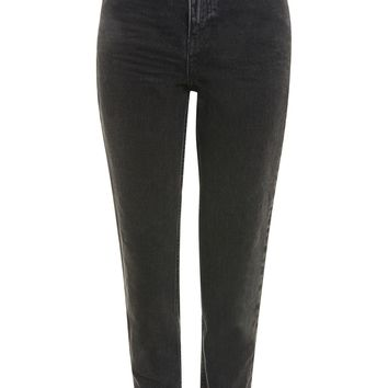 MOTO Washed Black Mom Jeans | Topshop