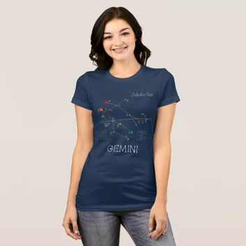 Constellation GEMINI unique, elegant T-Shirt