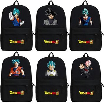 Anime Dragon Ball Z Son Goku Backpack Cartoon Dragon Ball Super  Kakarotto Bags Oxford Student School Bag Unisex