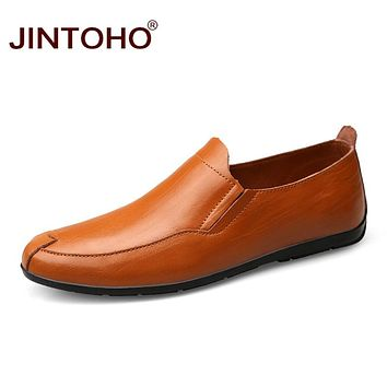 Men Shoes Summer Fashion Casual Men Shoes Male Leather Flats Shoes Slip On Men Loafers Leather Moccasins