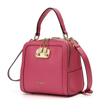 Kadell PU Leather Candy Color Handbag Shoulder Bag Crossbody Bags For Women