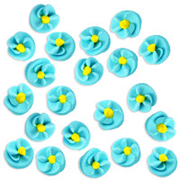 Blue Twist Icing Flowers