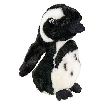 7 Inch Stuffed Black-footed Penguin Plush Sitting Animal Kingdom Collection