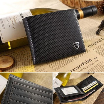 New Men's Boys' Classic Fashion Dot Pattern Leather Pockets Credit/ID Cards Holder Purse Wallet AP = 1652573956