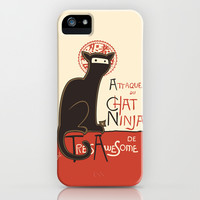 A French Ninja Cat (Le Chat Ninja) iPhone & iPod Case by Kyle Walters