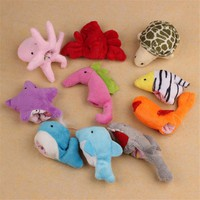 Yoner 10Pc Cute Soft Ocean Animal Puppet toys Baby Girls Boys Finger Puppet Plush Toy Finger toy Finger puppets