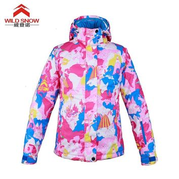 woman ski jacket   windproof and water-proof
