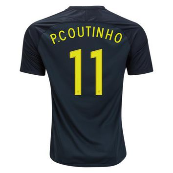 Brazil 2017/18 Third Away Men Soccer Jersey Philippe Coutinho #11