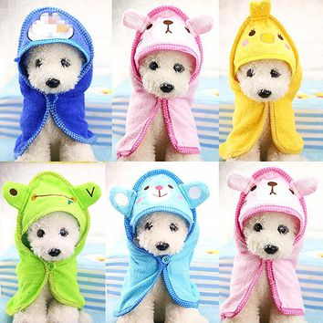 Puppy Dog Towel Drying Towel For Dogs Bathrobe Absorbent Shower Dog Bath Towel Blankets Cleaning High Quality Pet Product 40F1