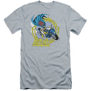 Dc - Batgirl Motorcycle Premium Canvas Adult Slim Fit 30/1 Shirt Officially Licensed T-Shirt