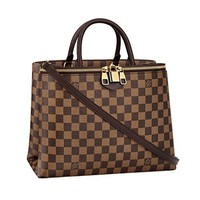 Louis Vuitton Damier Canvas Zipped Handbag Article:N41582 Made in France