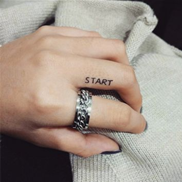 Simple Fashion Personality Rotate Chain Unisex Ring Couple Little Finger Ring