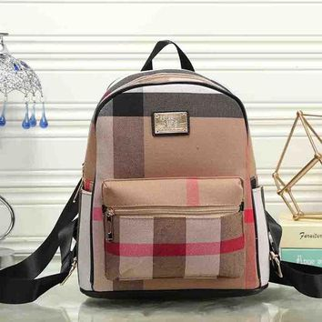DCCKJG8 Burberry Women Leather Bookbag Shoulder Bag Handbag Backpack