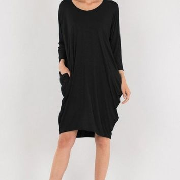 The Slouch Dress - Black