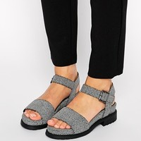 ASOS FLETCHER Two Part Footbed Sandals at asos.com