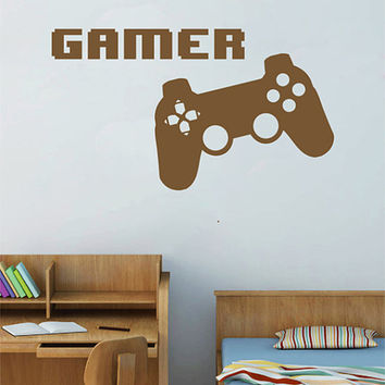 kik2543 Wall Decal Sticker controller console Xbox 360 Game PS4 player bedroom teens