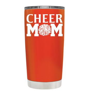 Cheer Mom Pom Pom on Vermilion 20 oz Tumbler Cup