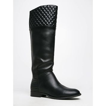 Fallout Quilted Knee High Boots