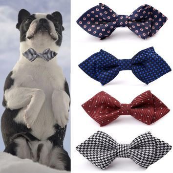 Dog Bow Tie Collar With Elastic Strap For Medium-sized and Large Dogs