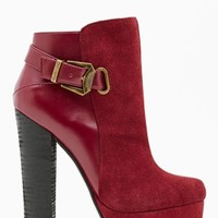 Shoe Cult Apex Leather Bootie - Oxblood