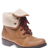 Faux Sherpa Lined Foldover Boots | Wet Seal