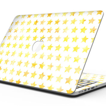 Gold Watercolor Stars - MacBook Pro with Retina Display Full-Coverage Skin Kit