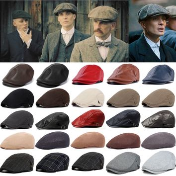 24b31d91952 Newsboy Gatsby Cap Mens Ivy Hat Golf Driving Flat Cabbie Beret Driver  Winter Hat