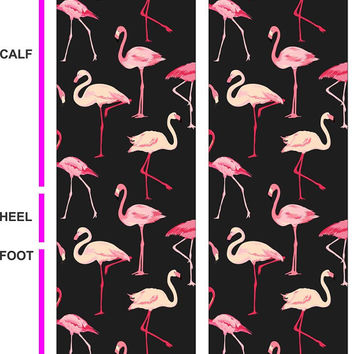 Flamingo Socks - Tropical Socks - Fun Socks