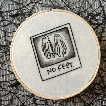 Beetlejuice 'No Feet' Embroidery Hoop
