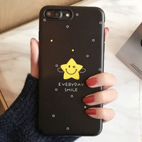 Cute Stars Case for iPhone 7 7Plus & iPhone se 5s 6 6 Plus Best Protection Cover +Gift Box-185