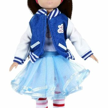 Rockabilly Lottie Doll - Includes Varsity Jacket, Cat-Eye Glasses and More!