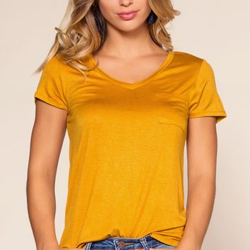 Kaylee Basic Top - Mustard