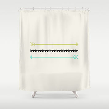 Light Green Blue Arrows Shower Curtain From Society6 Home