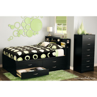 South Shore Step One Full Platform Bed with Optional Chest