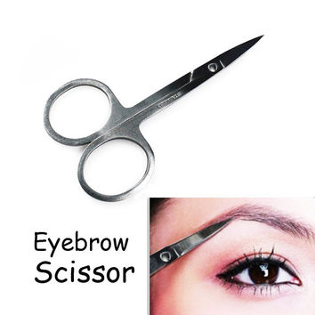 Makeup Tool Korea Small Eyebrow Scissors Cut Manicure Nose Stainless Steel Makeup Scissors Eyebrow With Sharp Head HB88