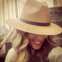Mill Creek Straw Wide Brimmed Fedora