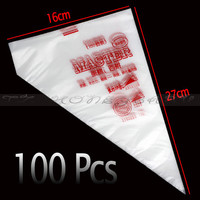 100Pcs/Set Disposable Pastry Bag Piping Cake Pastry Cupcake Decorating Bags Bakeware Cookie Cutter
