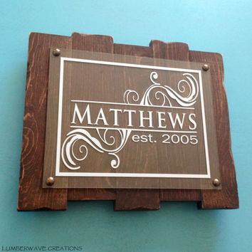 Last Name Sign Family Established Sign Last Name Plaque Sign Rustic Family Name Sign Personalized Family Sign