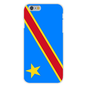 Apple iPhone 6 Custom Case White Plastic Snap On - Democratic Republic of the Congo - World Country National Flags