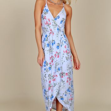 Sweet Innocence Floral Dress Periwinkle