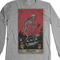 Death Tarot-Unisex Heather Grey T-Shirt
