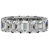 Emerald Cut Diamond Eternity Wedding Band