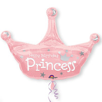 Princess Crown - Birthday Party Mylar Balloon