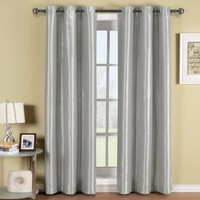 Milan White Top Grommets Blackout Multiple layers Fabric, Window Curtain Panels, 54x63 inches Single Panel, by Royal Hotel